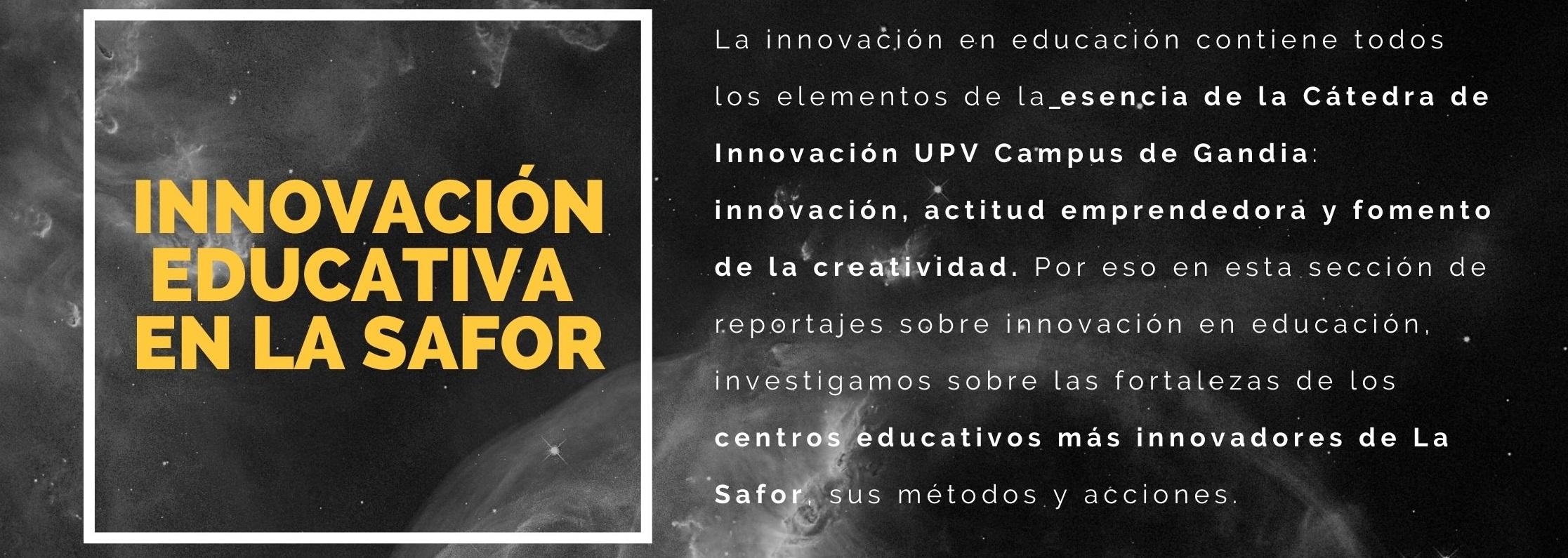 INNOVACIÓN EDUCATIVA EN LA SAFOR