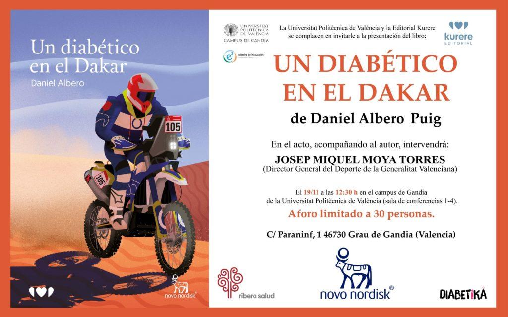 """Presentación del libro """"Un diabético en el Dakar"""""""