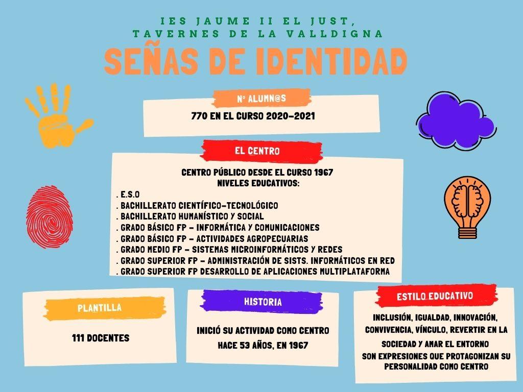 Señas de identidad del IES JAUME II EL JUST de Tavernes de la Valldigna, centro innovador de La Safor