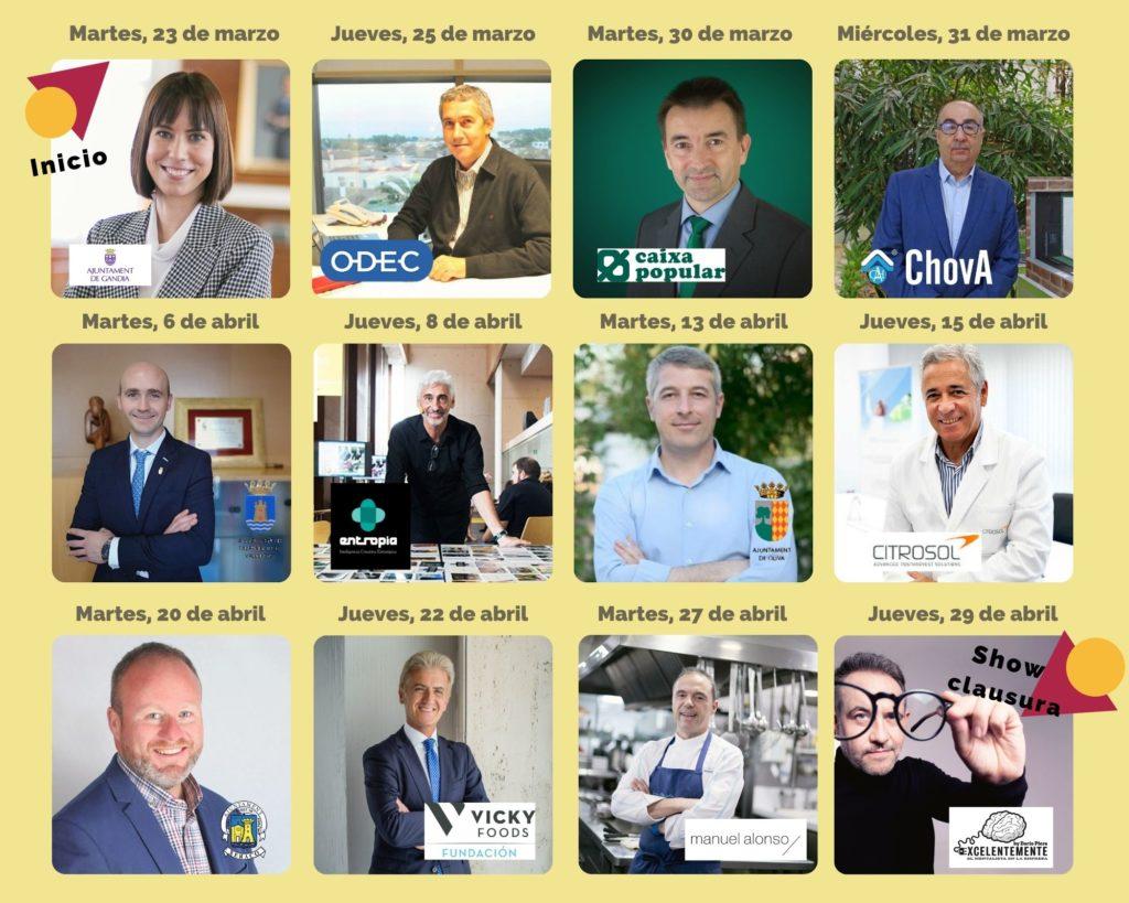 Ponentes curso Secretos del Éxito empresarial 2021