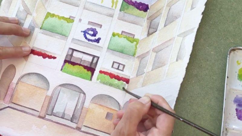 jardín vertical en escolapias como centro innovador